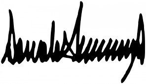 This image has an empty alt attribute; its file name is donald-j-trump-autograph-image-2.jpg