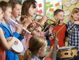 Children Paying Music 2 Image