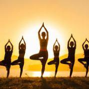 Yoga Silhouette Image
